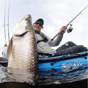 Kayak tarpon fishing